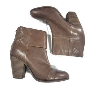 Rag & Bone Brown leather Newbury Booties